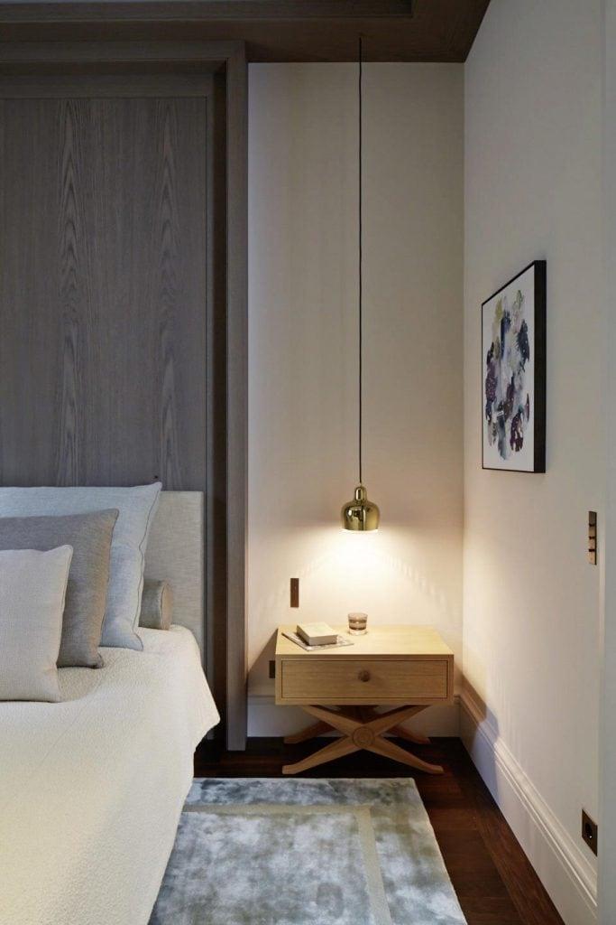 The bedroom at Haus Bahren in Hamburg Othmarschen