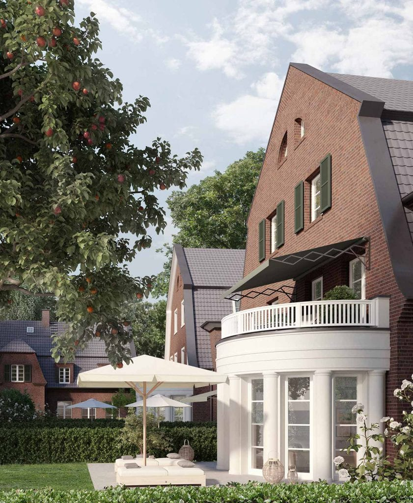 Hamburg-Nienstedten Charlotte-Niese Blick Garten