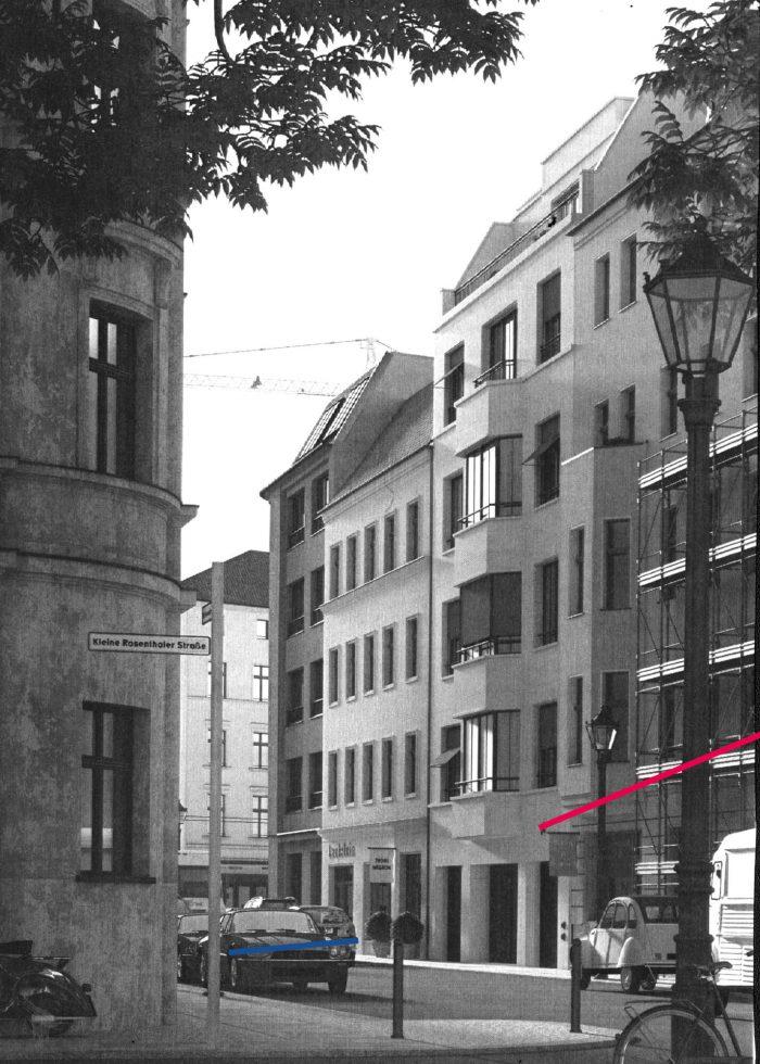 Linienstrasse 72 Grafik von Rocket und Wink