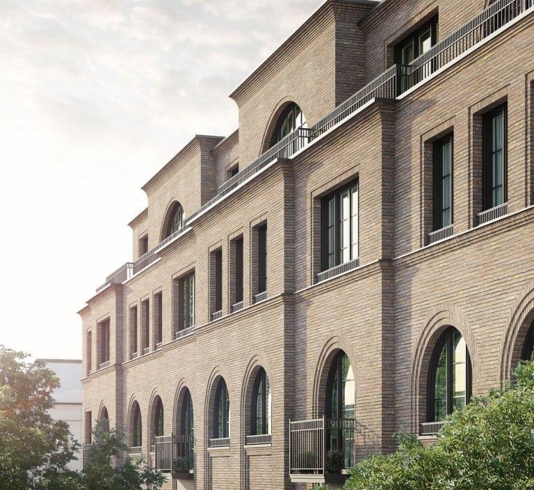Alexander Berlin Fassade mit Staffelgeschoss