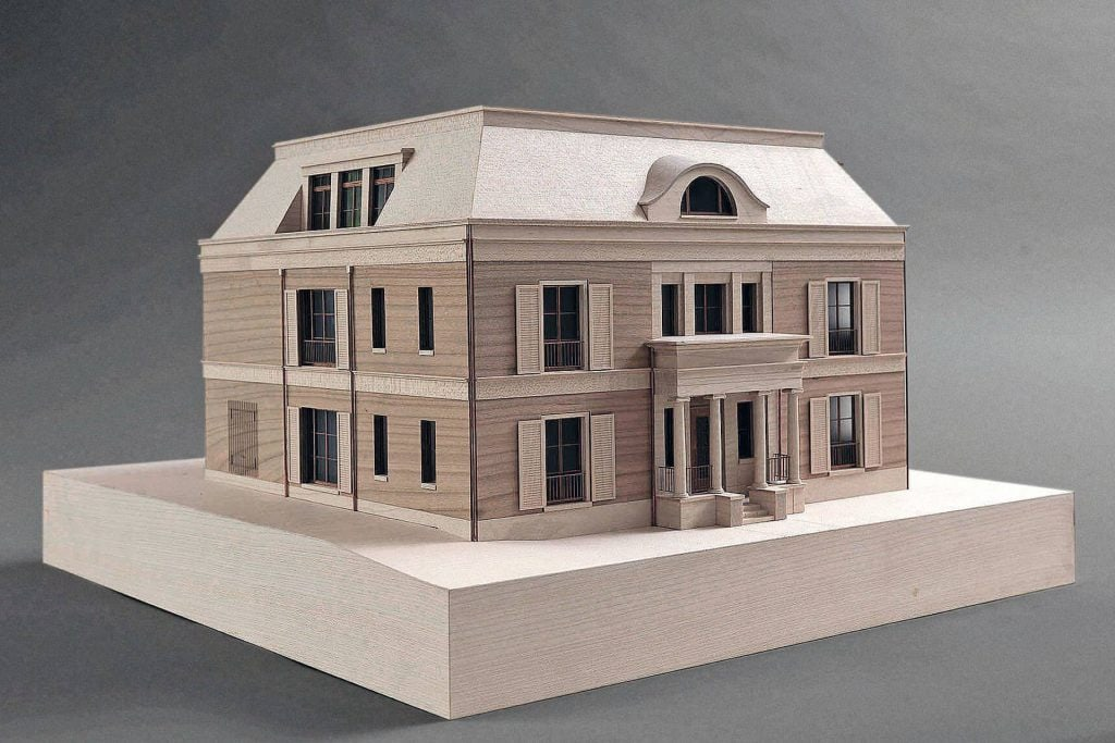 The architectural model for House Weyhe