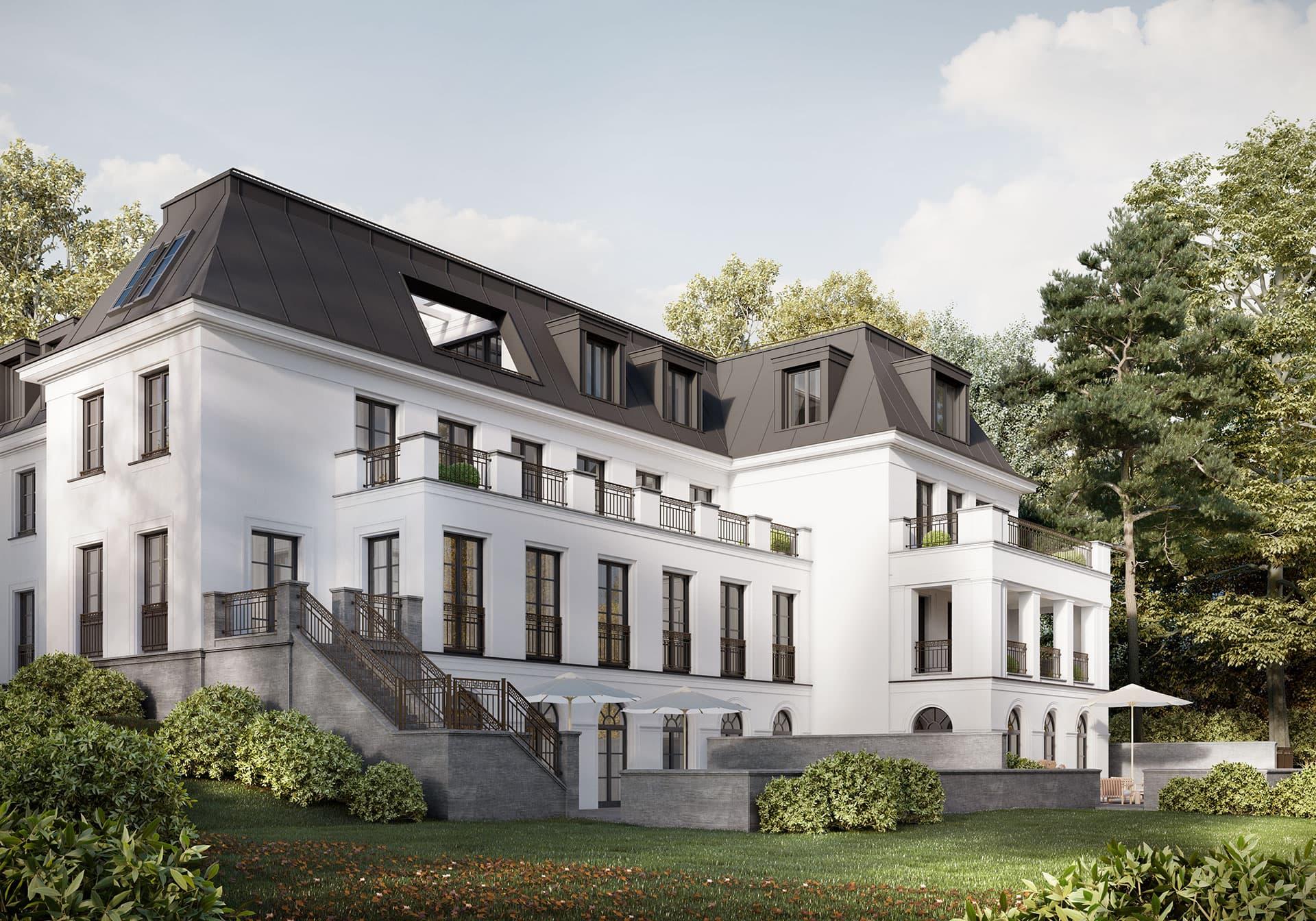 Haus-Bennett Gartenansicht Berlin-Grunewald
