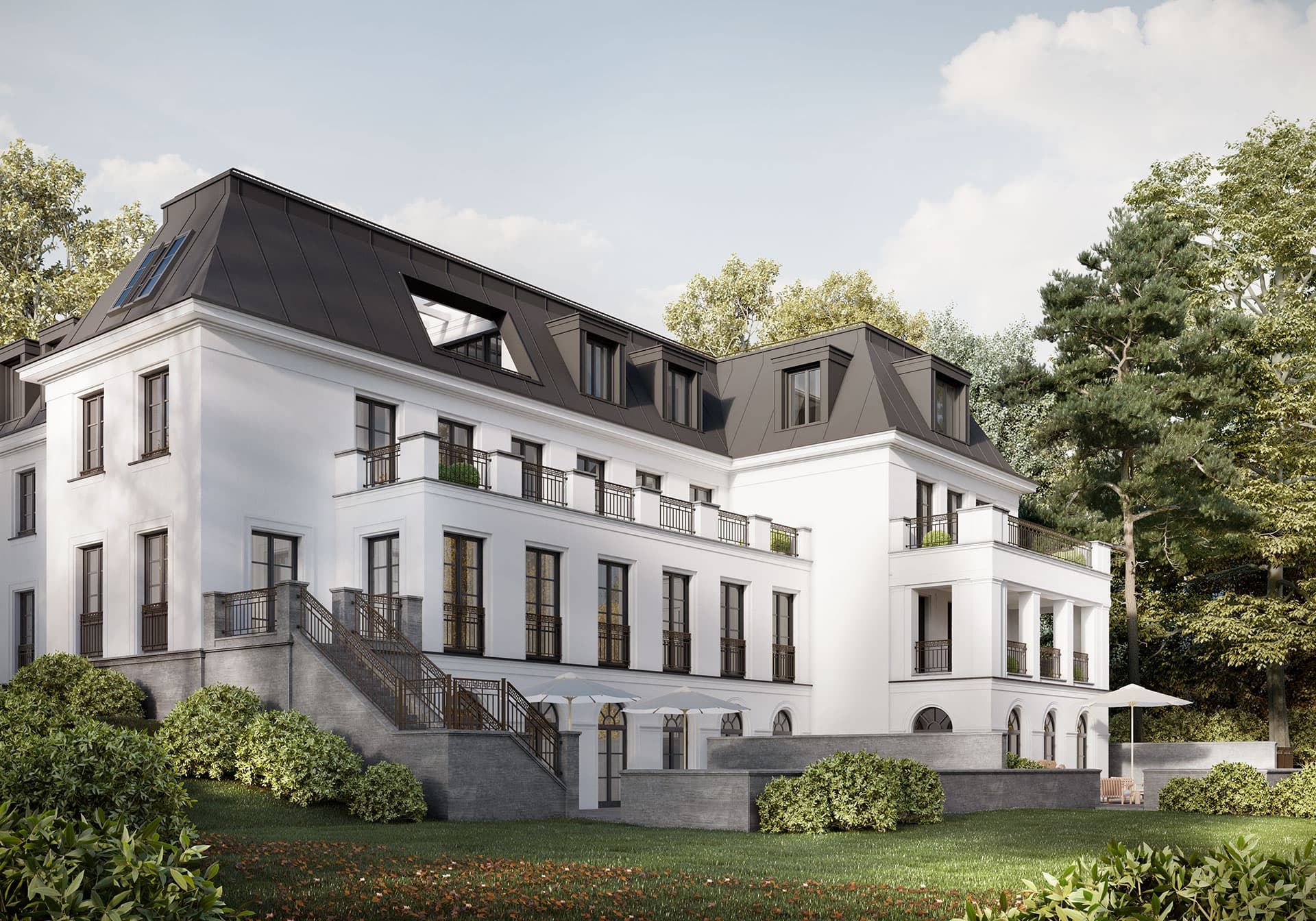 Haus-Bennett Gartenansicht Berlin-Grunewald Gartenansicht