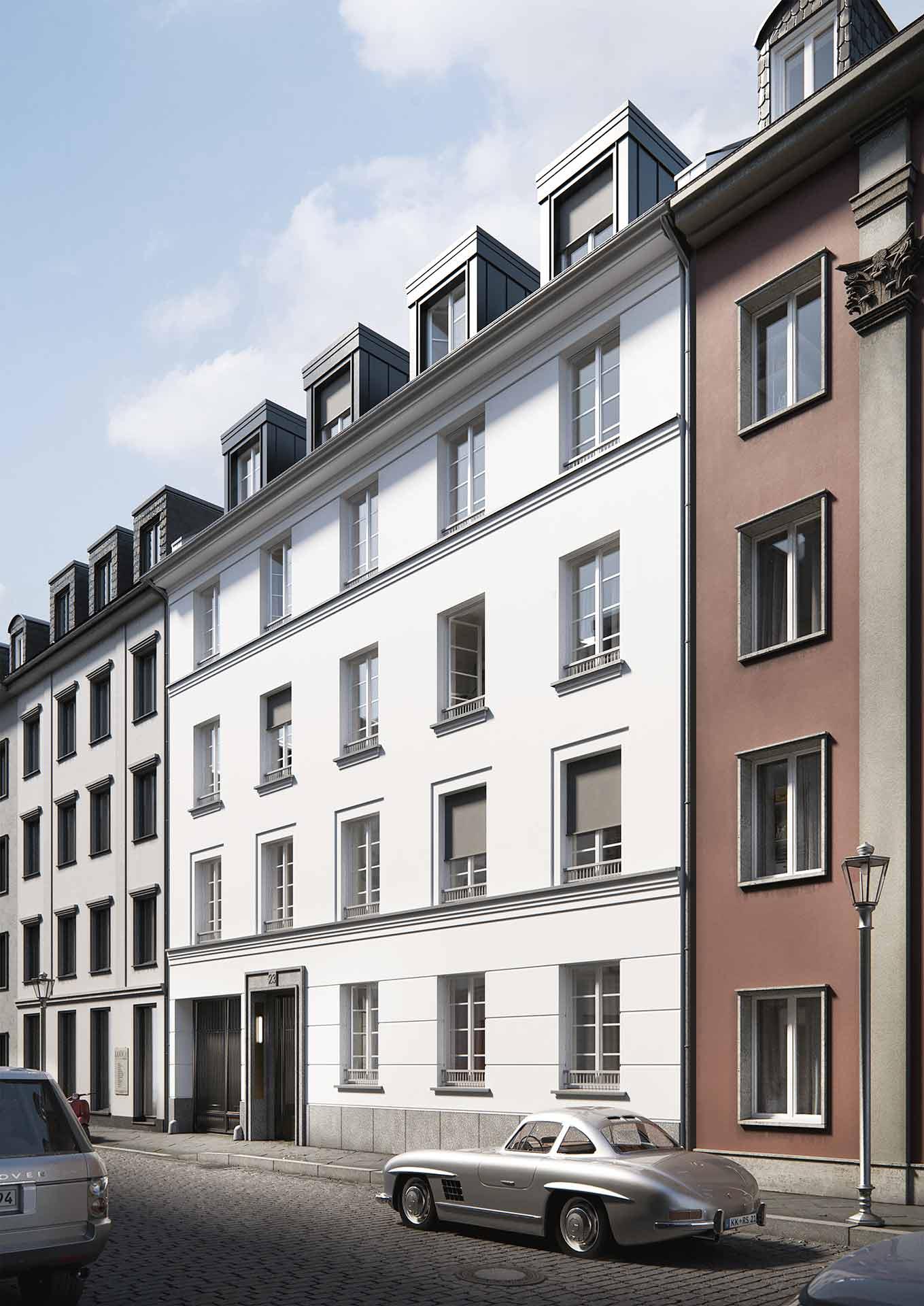 Dusseldorf Carlstadt The Theodor Strassenhaus Frontfassade