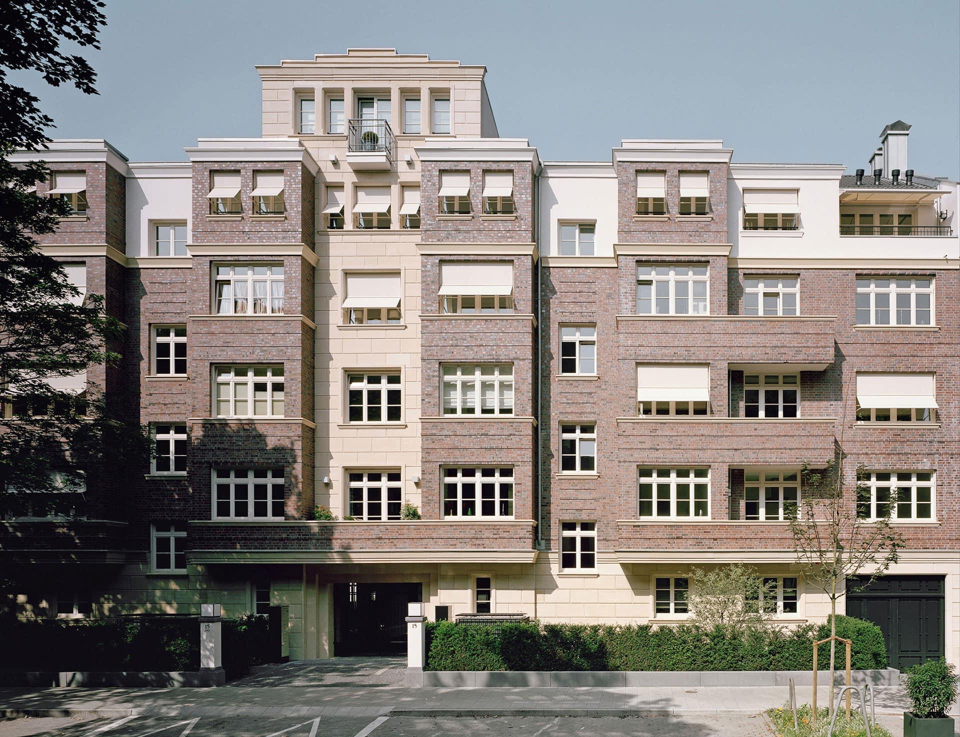 Quirinstrasse 15 Düsseldorf Vorderhaus Fassade Sofienhof