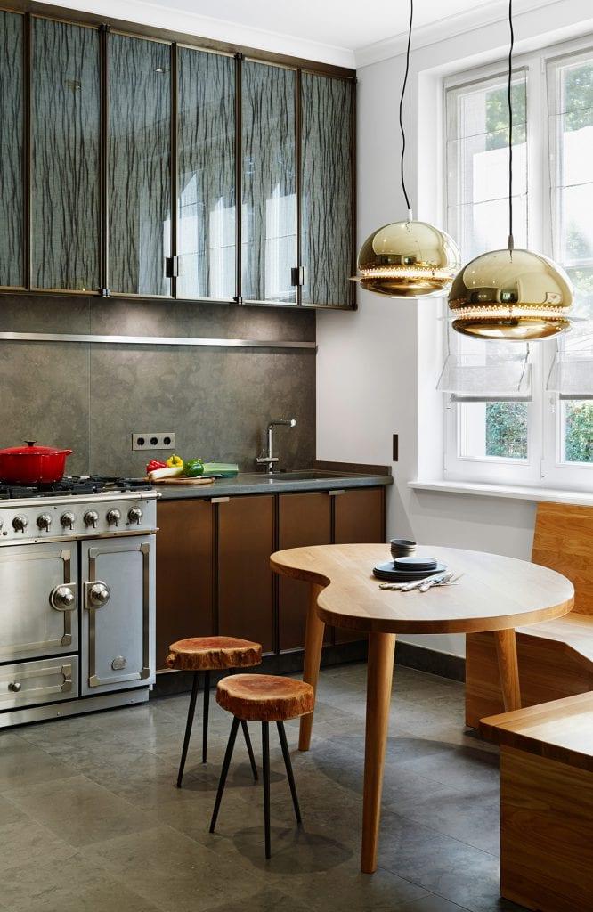 The kitchen at Haus Bahren in Hamburg Othmarschen